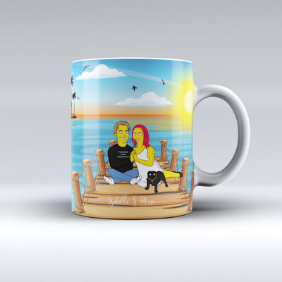 Portrait Yellow - Mug