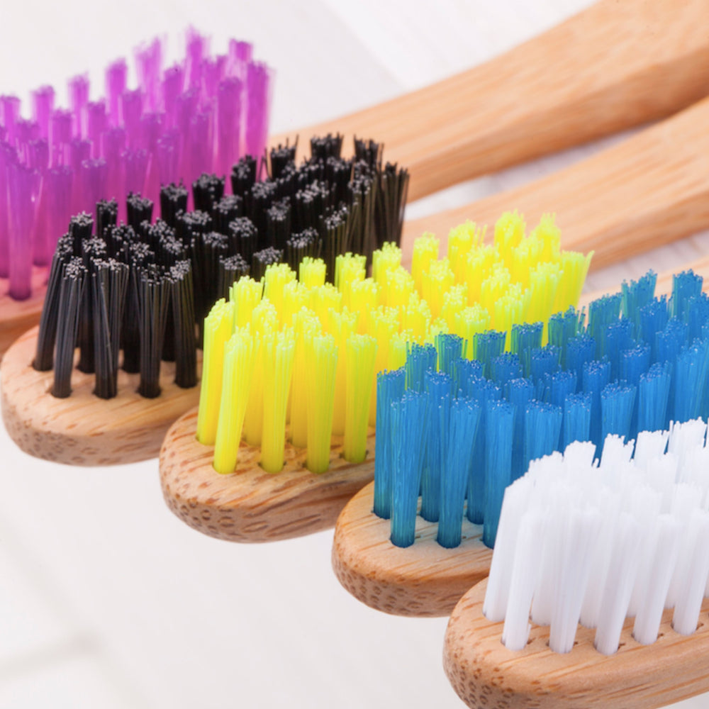 KIT: Biodegradable Bamboo Toothbrush (5 pack) & Corn Starch Floss Picks (50 count)