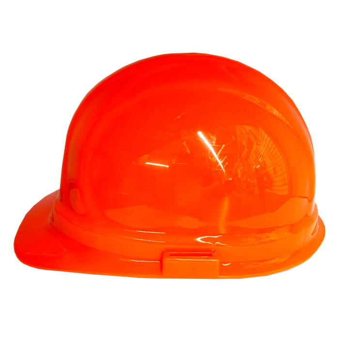 (Orange) ERB Omega II Hard Hat | 6-Point Ratchet Suspension