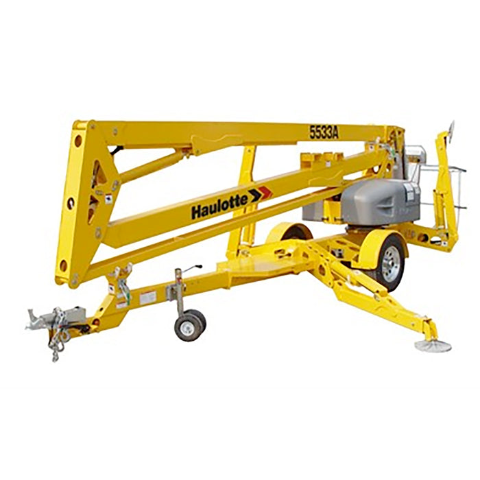Haulotte 5533 A 55 Ft. Electric-Articulating Towable Boom Lift | Rental