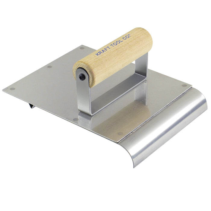"6"" x 8"" Stainless Steel Hand Edger/Groover 3/8""R 1/4""Bit with Wood Handle"