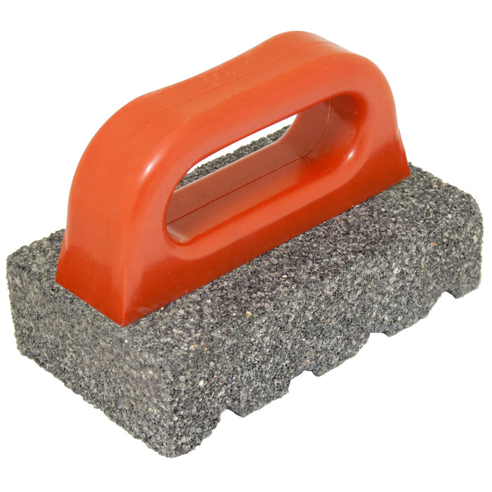 "6"" x 3"" x 1"" Rub Brick with Handle - 60 Grit"