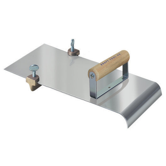 "5"" x 12"" 3/4""R, 1""D Stainless Steel Edger with Adjustable Groover"
