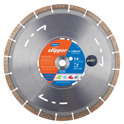 "Norton 14"" Maxi-Cut 4x4 Diamond Blade (Wet/Dry - Cut All)"