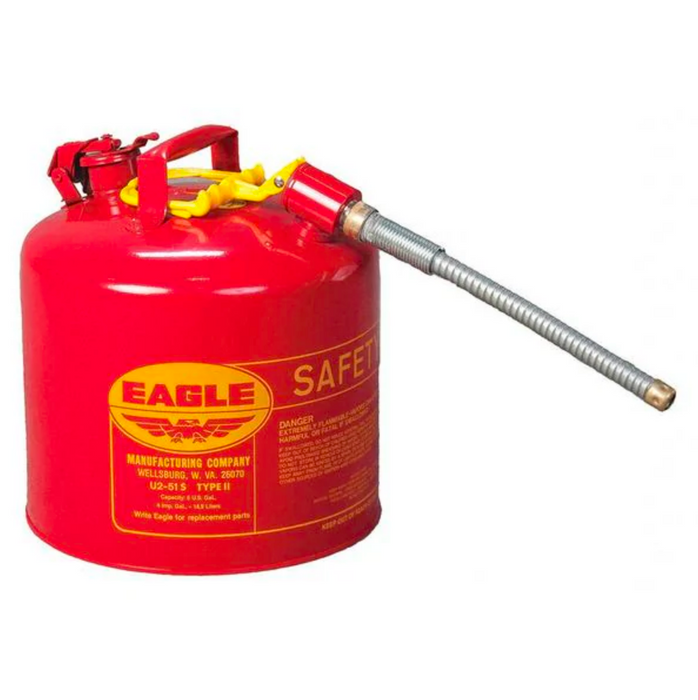 5 Gallon Red Safety Can W/ Flex Spout
