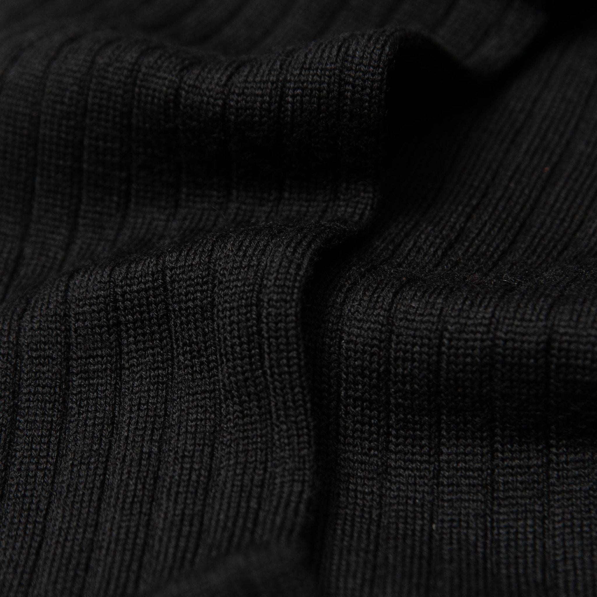 Gustav - Knee-high Merino Socks - Black