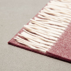 Burgundy Wool Scarf