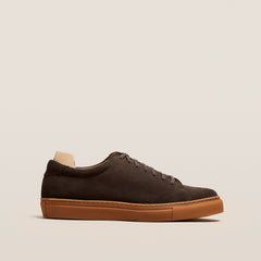 Oaxen Dark Brown Suede