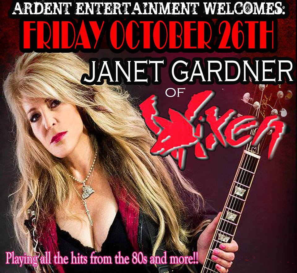 CONCERT TICKET 2018: 10-26-18 - JANET GARDNER of VIXEN