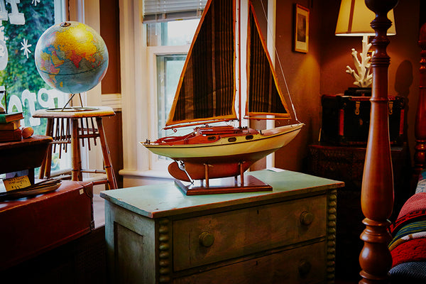 vintage sailboat model image