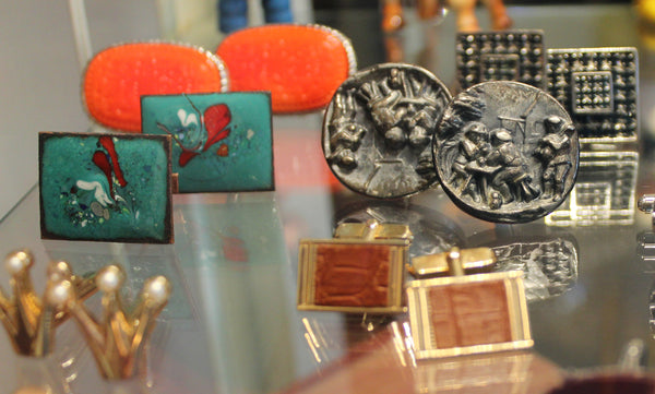 gifts for men, valentine's day, tarrytown, pretty funny vintage, vintage, cufflinks, vintage cufflinks