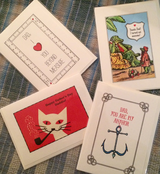 cards in tarrytown, father's day cards, pretty funny vintage, gift shop