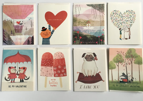 red cap cards, valentine's day cards, pretty funny vintage, tarrytown, sleepy hollow