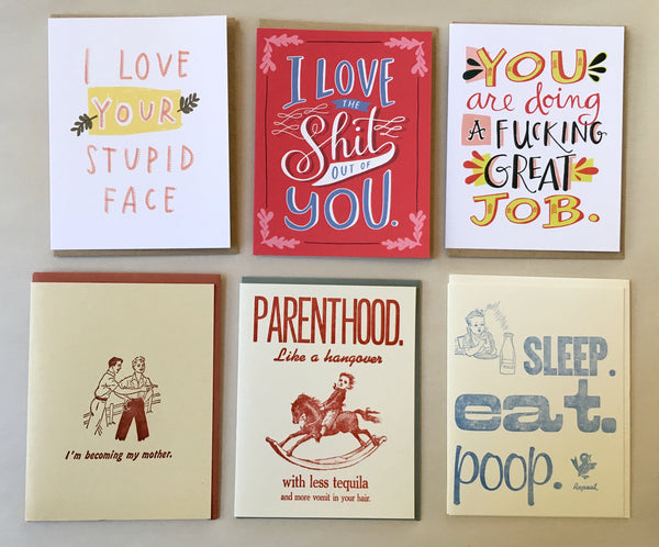emily mcdowell and Zeichen cards for mom, cards in tarrytown, pretty funny vintage, sleepy hollow