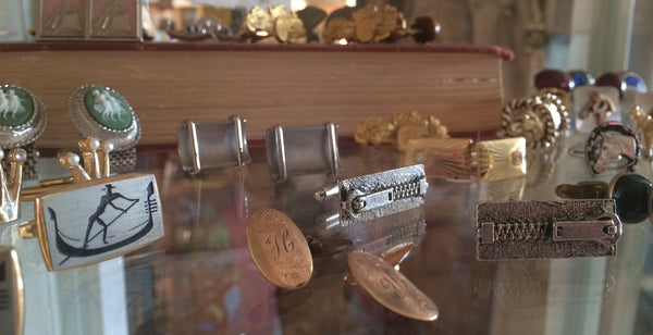 father's day gifts in tarrytown, pretty funny vintage, cufflinks, vintage cufflinks, father's day