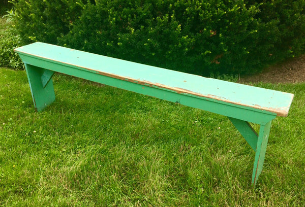 vintage teal long bench furniture at pretty funny vintage in tarrytown ny