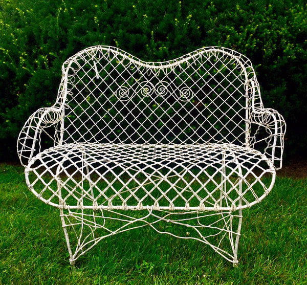 vintage victorian garden furniture settee at pretty funny vintage in tarrytown ny