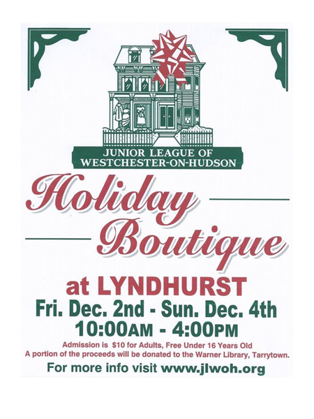 lyndhurst, tarrytown, sleepy hollow, holiday, boutique, sale