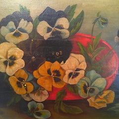 victorian pansy painting, pansy, painting, vintage art, pretty funny vintage