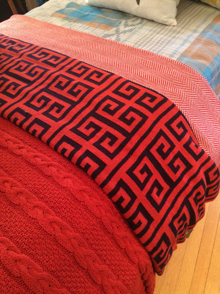in2green, recycled cotton, tarrytown, pretty funny vintage, throws, blankets