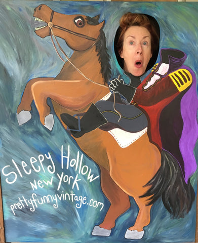 headless horseman, sleepy hollow, tarrytown, pretty funny vintage