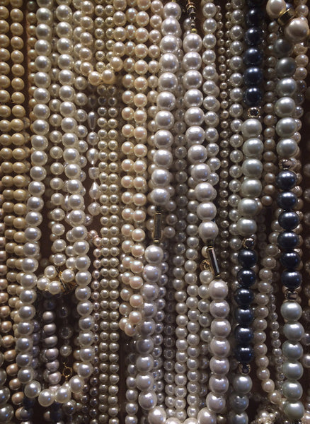 vinage faux pearl jewelry at pretty funny vintage in tarrytown ny