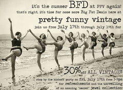 vintage sale at pretty funny vintage in tarrytown ny