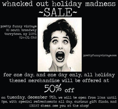 holiday sale at pretty funny vintage in tarrytown & sleepy hollow, ny