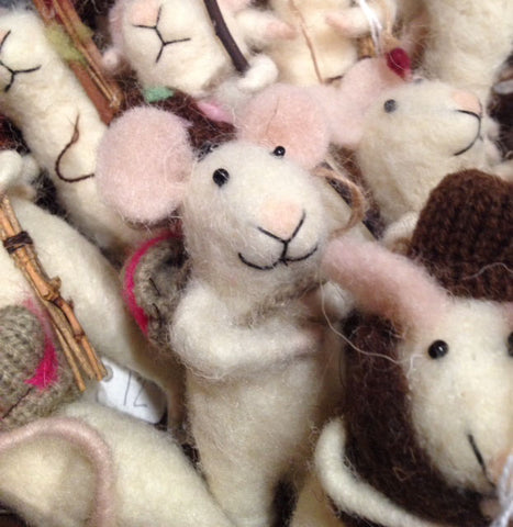 try a felted traveling mouse ornament on the tree this year