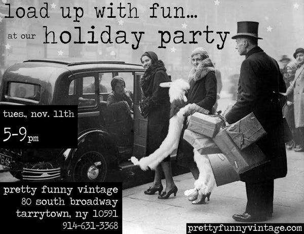 festive annual holiday party at pretty funny vintage in tarrytown ny