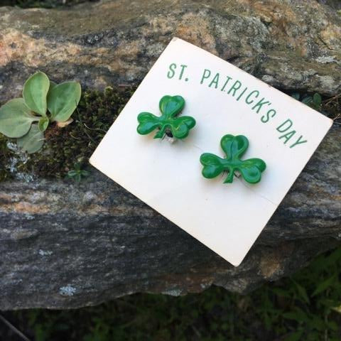 S157 - St. Patrick's Day Earrings Clip on