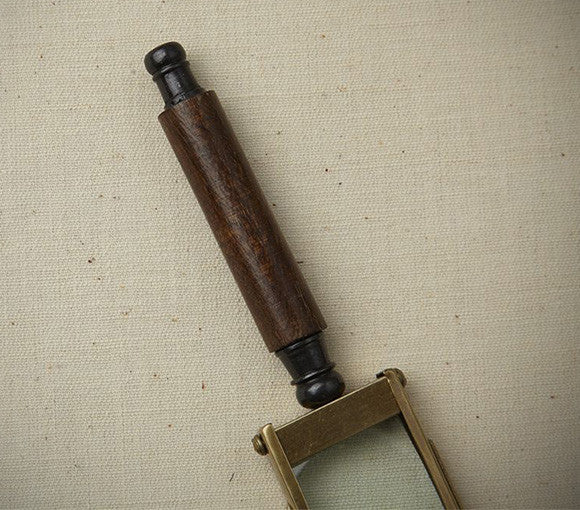 rectangular brass magnifying glass