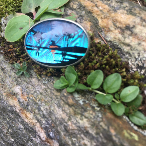 Butterfly Wing Landscape Pin