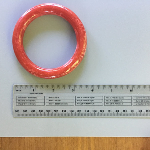 S130 - Smokey Grain Red Plastic Bangle