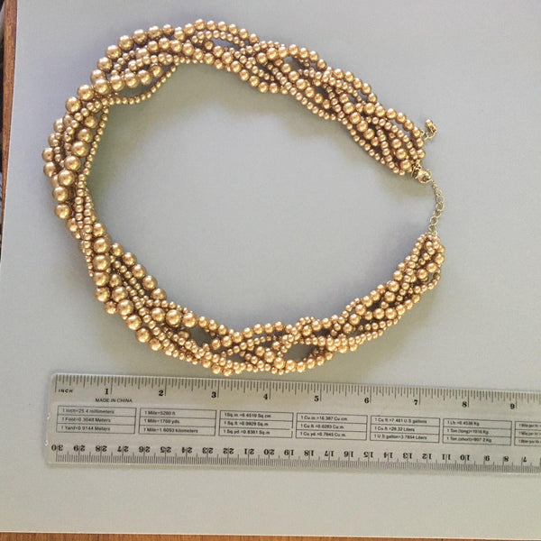 P115 - Poil, Champagne Collar Pearl Necklace