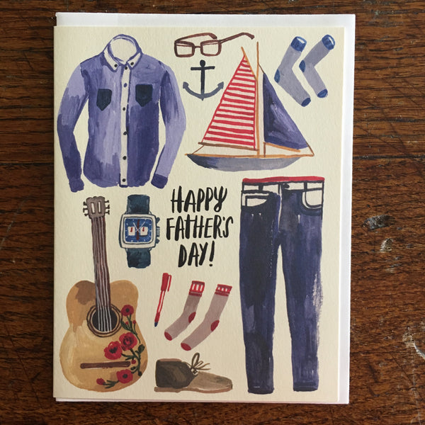 "Father's Day Card With ""Dad"" Stuff On It"