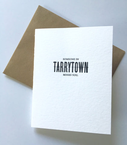 "Card - ""Someone in Tarrytown Misses You."" [It's Me]"