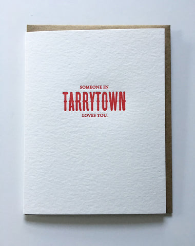 "Card - ""Someone In Tarrytown Loves You"" [It's Me]"