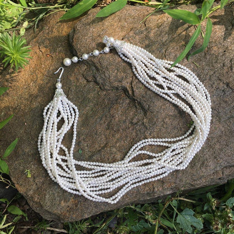 P111 - Poil, Multi-strand Pearl Necklace