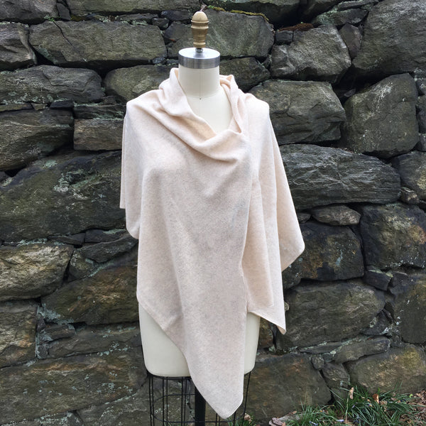 Cashmere Scarf Shawl Topper - Cream