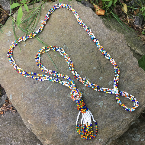 S118 - Multi-color Seed Bead Necklace