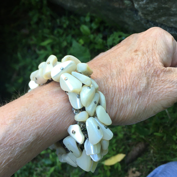 White Abalone Expansion Bracelet