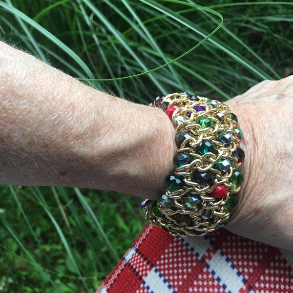 T141 - Stretch Multi-bead Bracelet