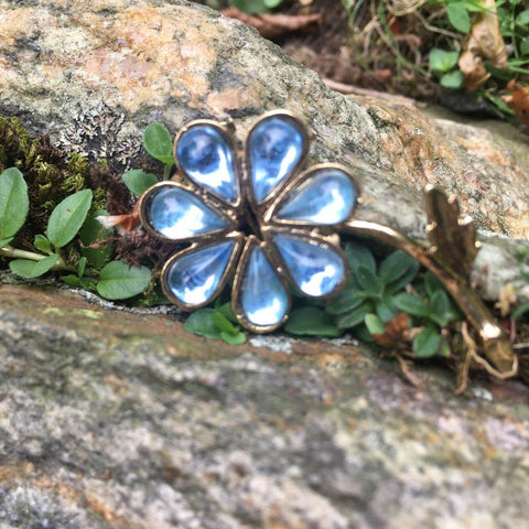 Sweet Blue Flower Pin