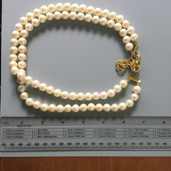 P120 - Poil/Pearls: Double Strand Adjustable Necklace