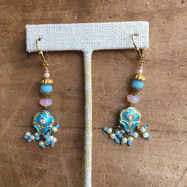 Indian Lakh Earrings by JoLi (LKbp)