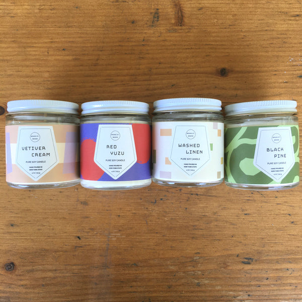 4oz Scented Soy Mini Glass Jar Candles