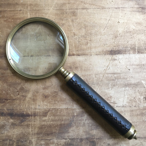 Leather Wrapped Belgian Magnifying Glass