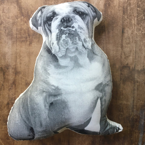 Bulldog Decorative Printed Pillow