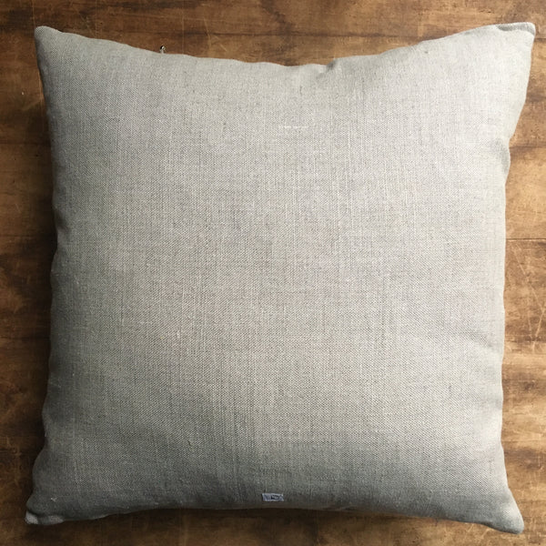 "Hand-Stitched Rainbow Accent Pillow (13"" Square)"